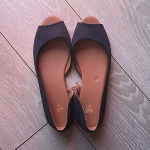 H&M Black peep toe flats size 38 (8)